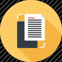 content, copy, data, document, duplicate, file, management icon
