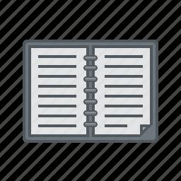 diary, diary icon icon