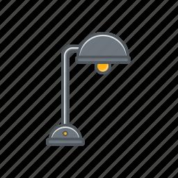 lamp, table, table lamp, table lamp icon icon