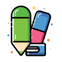 cutter, eraser, office, pencil, remove, school, sharpener icon
