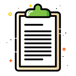 colorful, document, note, office, paper, school icon
