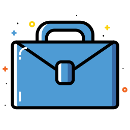 bag, briefcase, business, colorful, office icon