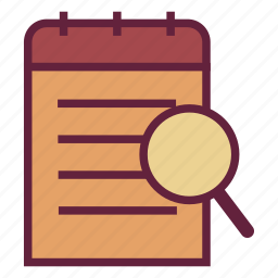 look, office, schedule, search, untitled icon