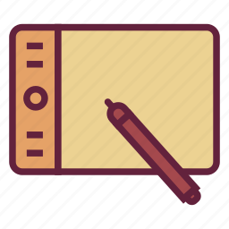 draw, graphic, office, tablet, untitled icon