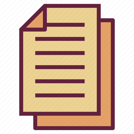 document, list, office, paper, untitled icon
