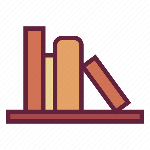book, bookshelf, office, untitled icon