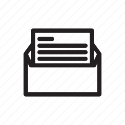 chair, cup, line, mail, office, pencil icon