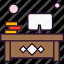 desk, office, workplace