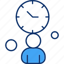 management, time, work icon