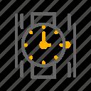 clock, hand, time, watch