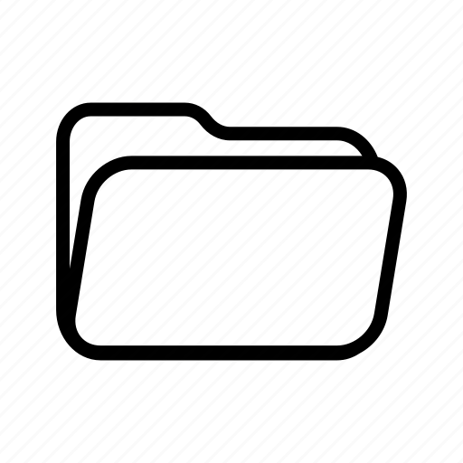 archive, document, empty, file, folder, office, portfolio icon