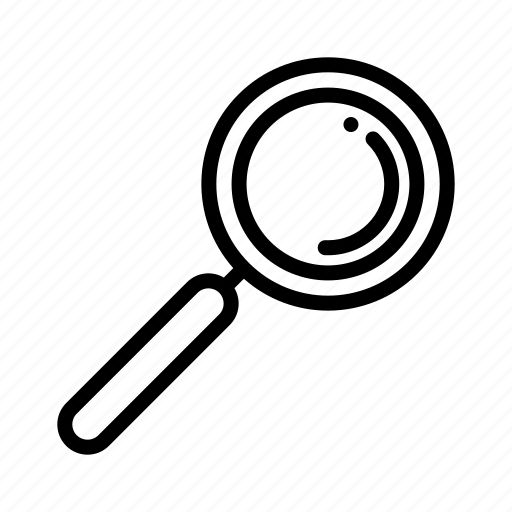 glass, loupe, magnifier, research, search, zoom icon