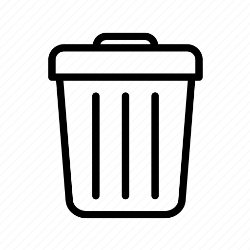 basket, bin, can, garbage, recycle, trash bin, waste icon