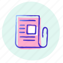 doc, document, office, paper, report, text, business