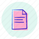 document, file, format, office, page, paper, template icon