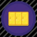cabinet, cupboard, locker, locker area, locker room, storage