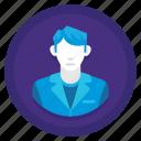 boy, gentleman, male, man, staff, user icon