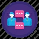 chat, discussion, meeting, talk, talking