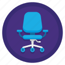 chair, office, office chair icon
