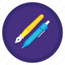 fountain pen, mechanical pencil, pen, pencil, stationery icon