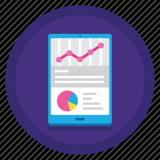mobile, mobile dashboard, mobile report, report, smartphone icon