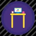desk, standing, standing desk icon