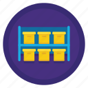 boxes, space, storage, storage box, storage boxes icon