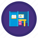 booth, office, room, study, study booth icon