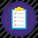 checklist, list, to do, todo
