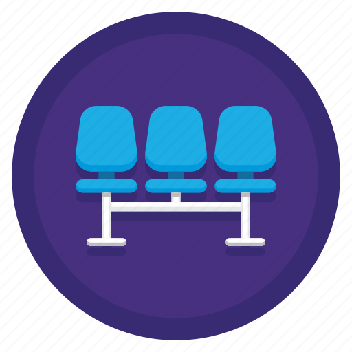 seating, seats, waiting area icon