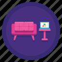 lounge, relax, sofa icon