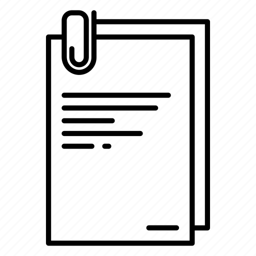 clip, document, file, office, paper icon