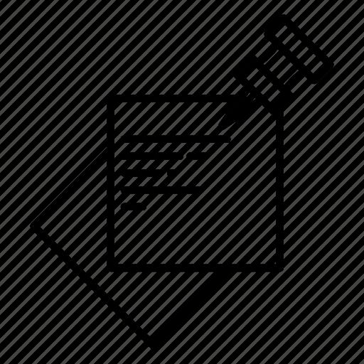 memo, note, office, pin icon