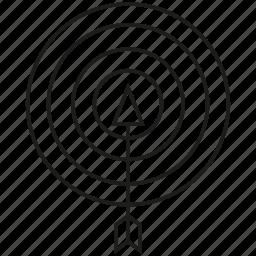 arrow, dart, focus, game, target icon