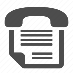 document, fax, file, office, telephone icon