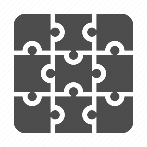 connection, jigsaw, pieces, puzzle icon