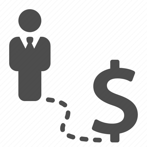 business, businessman, dollar, finance, money, road, success icon