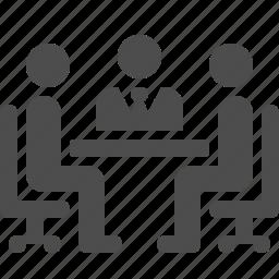 businessman, job, meeting, office, people, restaurant, table icon