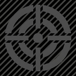 aim, business, crosshairs, scope, target icon