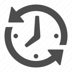 arrows, business, clock, deadline, office icon
