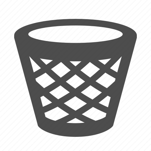 garbage, recycle bin, trash can icon