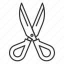 cut, cutting, office, school, scissor, scissors, tool icon