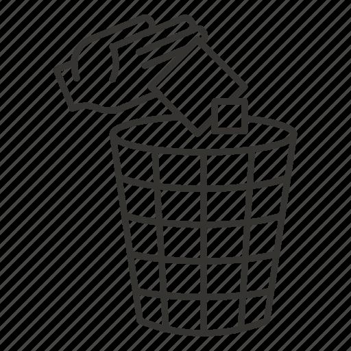 bin, delete, office, recycle, remove, trash icon