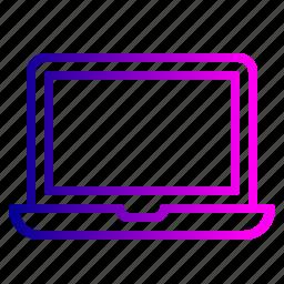 device, laptop, office, pc, stuff, work icon