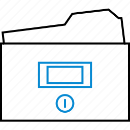 archives, file, folder, information, office, school icon