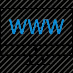 computer, internet, online, visit, web, website icon