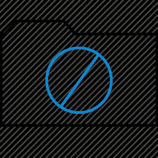 deleted, denied, error, folder, found, not, stop icon