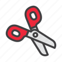 cissors, cut, cutting icon