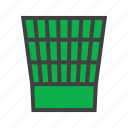 office, paper, trash icon