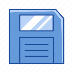 disk, diskette, floppy disk, storage file icon